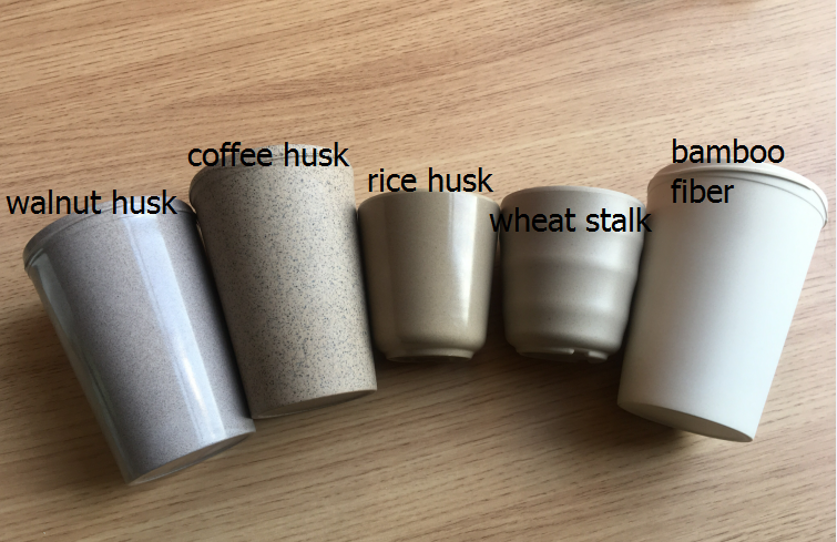 Great news!! rice hus/walnut husk/coffee husk can be made to coffee mug too