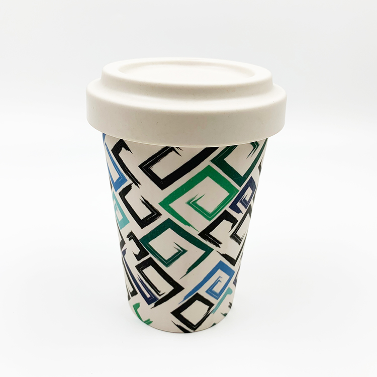 MYCOOL Customize Reusable Bamboo Cups with bamboo fiber lid Wholesale-customized design