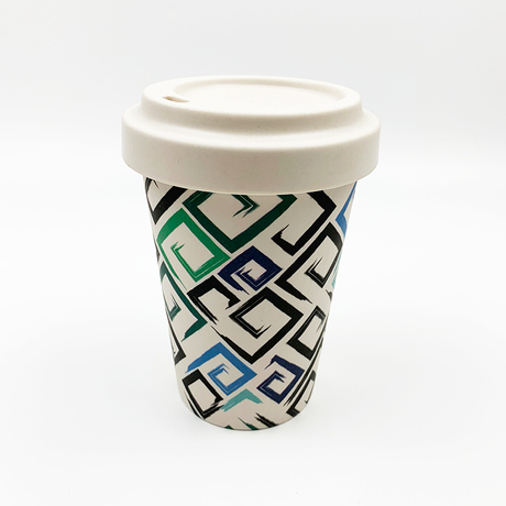 Eco friendly biodegradable natual bamboo fiber coffee mug with 16.56 oz, design can be customized