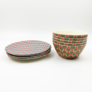 MBF Biodegradable High Quality Bamboo Fiber dinnerware sets