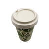 For Sale 350ml Biodegradable Custom Printed Reusable Bamboo Fiber Coffee Cups