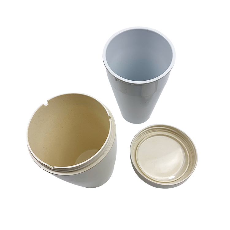 Hot Selling Attractive Non-slip Healthy Durable 350ml Bamboo Fiber Coffee Mug Cups
