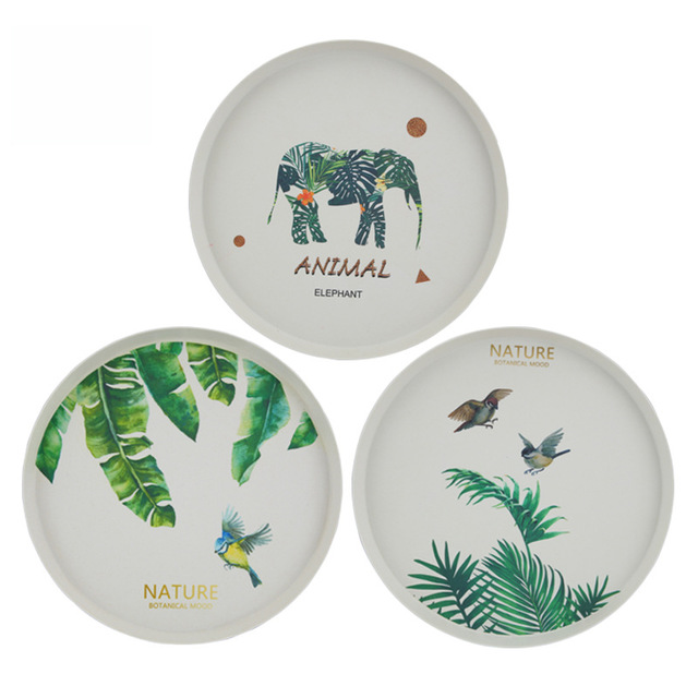 100%Biodegradable Eco-Friendly Bamboo Plate Bamboo Dinner Set Customizable Plate
