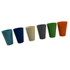 Non-toxic Biodegradable Reusable Bamboo Fiber Coffee Cups Wheat Fiber Mugs with Lid And Sleeve