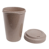 Hot Selling Reusable Colorful Silicone Lids Bamboo Fiber Biodegradable Coffee Mugs