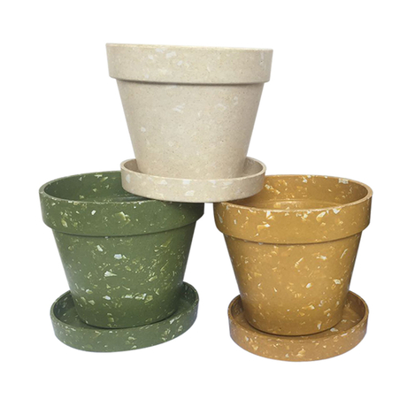 Outdoor Biodegradable Bamboo Planters and Flower Pot