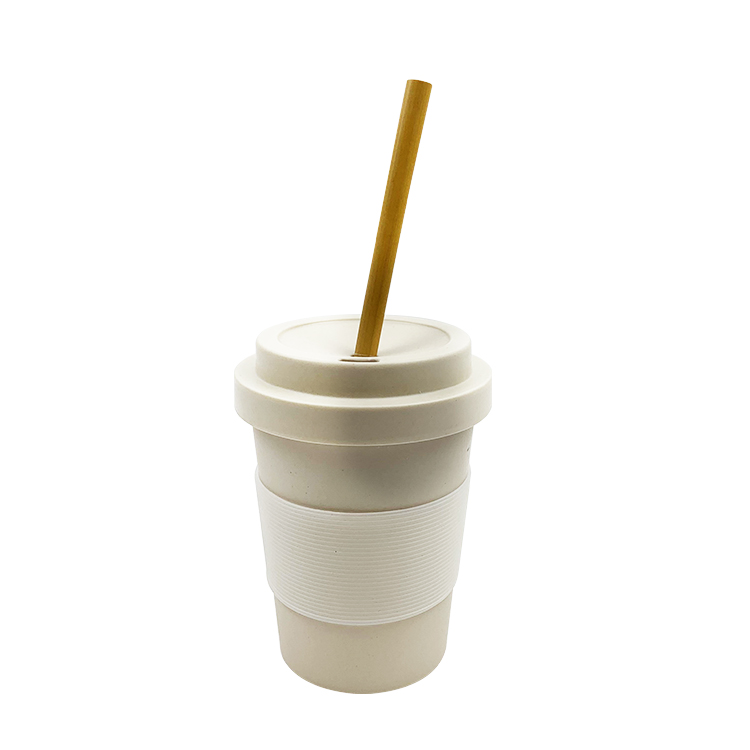Personalized Reusable Customized Bamboo Fiber Tumbler Coffee Cup with Lid