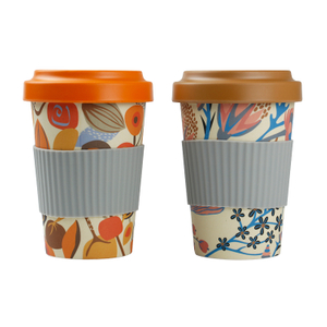 Eco-friendly Coffee Travel Mug Bamboo Fiber Reusable Water Cup 100% Organic Eco Friendly Reusable Travel Mug