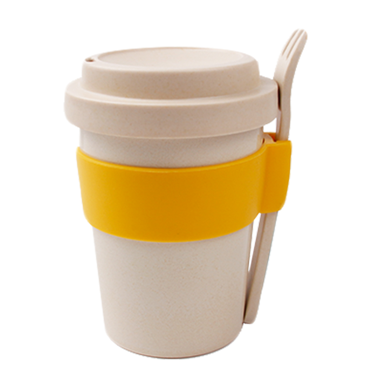 450ml Biodegradable PLA Bamboo Fiber Mugs