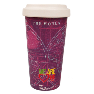 350ml Biodegradable Custom Keep Takeaway Travel Wholesale Bamboo Reusable Fiber Coffee Cups