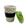 12oz 14oz 16oz Eco Bamboo Fiber Wheat Fiber Rice Husk Mug Coffee Cups with Silicone Lid
