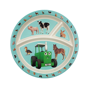 Unbreakable Kids plate -Reusable Eco-Friendly Bamboo Fiber Cartoon Plate Manufacturer