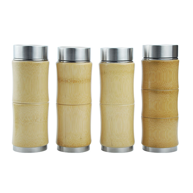Bamboo Biodegradable Customized Logo Bamboo Travel Mugs