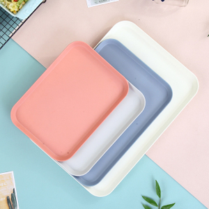 Biodegradable plates from bamboo/bamboo fiber made plates