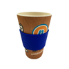 Reusable Coffee rice husk Travel Mug With sleeve and printing design